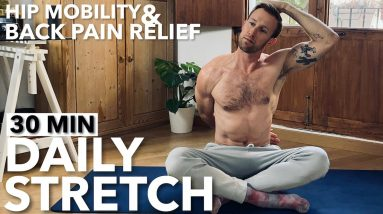 BACK PAIN RELIEF | 30 Minute Stretch To Relieve Back Pain and Help Your Hip Mobility