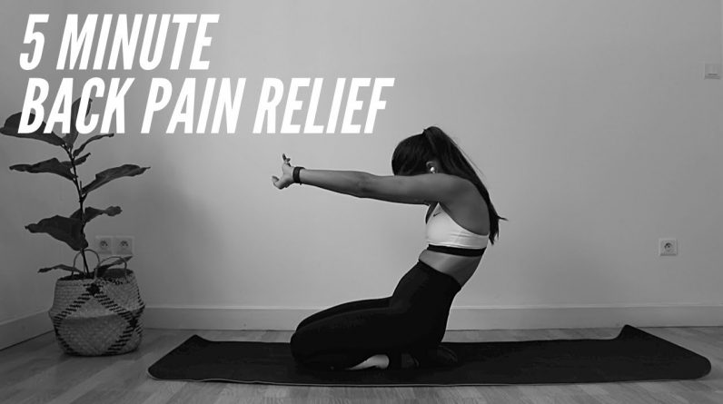 5 MINUTE EASY BACK PAIN RELIEF STRETCHES | SN STRETCHING