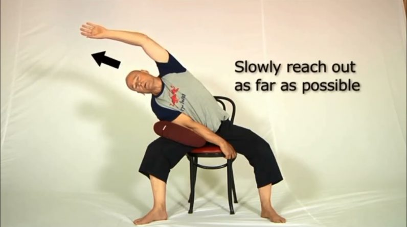 Lower Back Stretches with Chair  Simple Lower Back Pain Relief