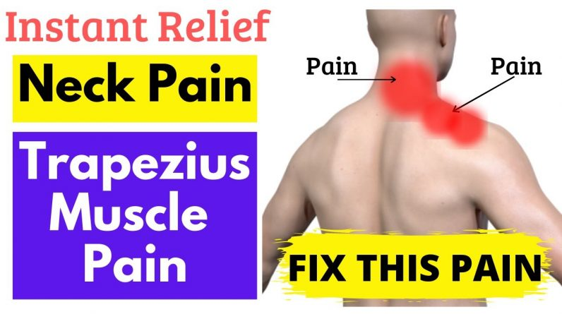 Quick Neck Pain Relief Stretch | Neck Muscle Stiffness Release Stretches | Trapezius Muscle Stretch