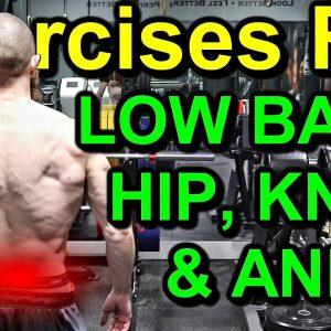 LOW BACK Pain Exercises, HIP Pain Exercises, KNEE Pain Exercises, & ANKLE Pain Relief Exercises