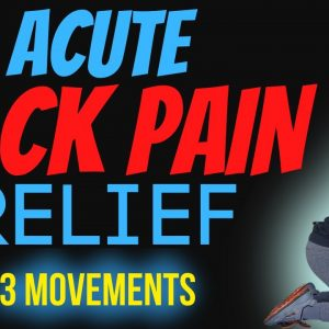 3 Acute Back Pain Relief Movements: Good for any acute #backpain situation
