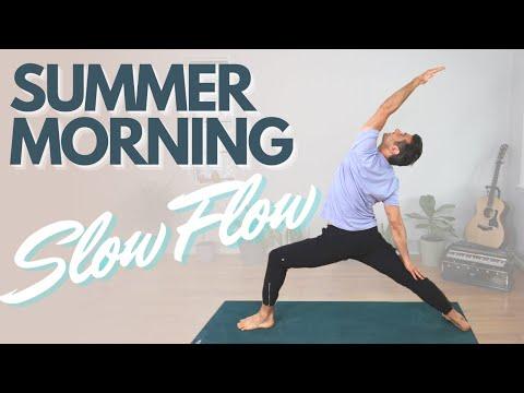 Sweet & Slow Summer Morning Yoga Flow | David O Yoga