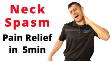 Neck Spasm pain relief in 5min