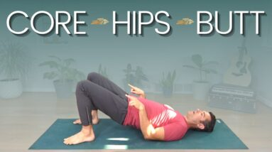 Yoga Workout for Core, Hips and Butt   David O Yoga