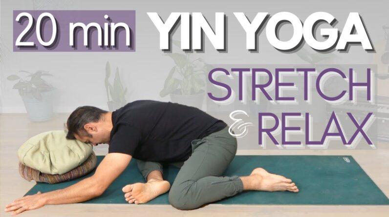 20 Minute Yin Yoga Deep Full Body Stretch | David O Yoga